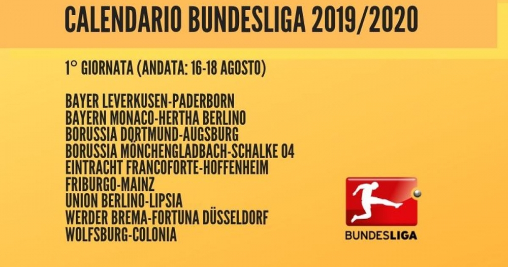 Bundesliga Calendario.Nemcy Blogi